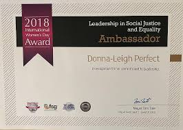 Donna Leigh Perfect Anti Bullying Council Award