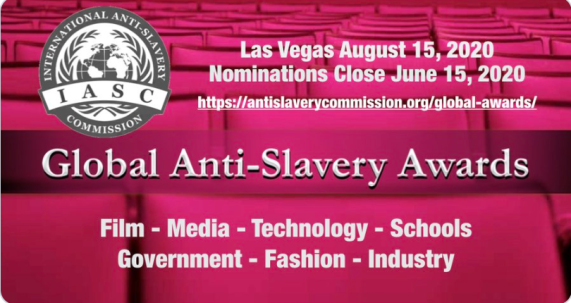 Global Anti Slavery Awards Las Vegas August Colleen Kelly 2020