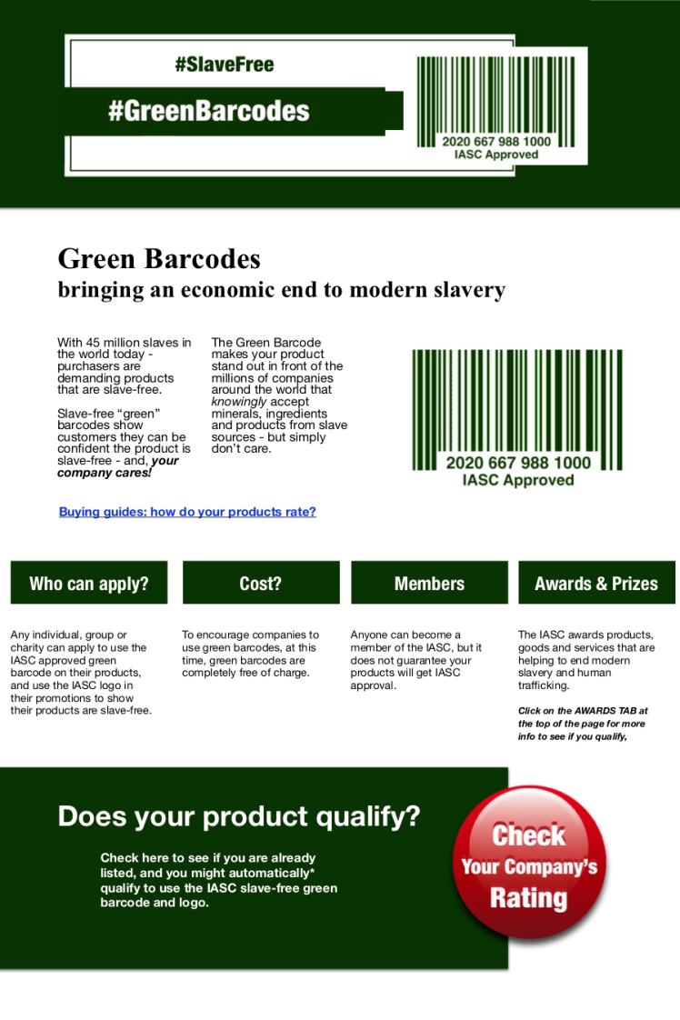 What is a green barcode?